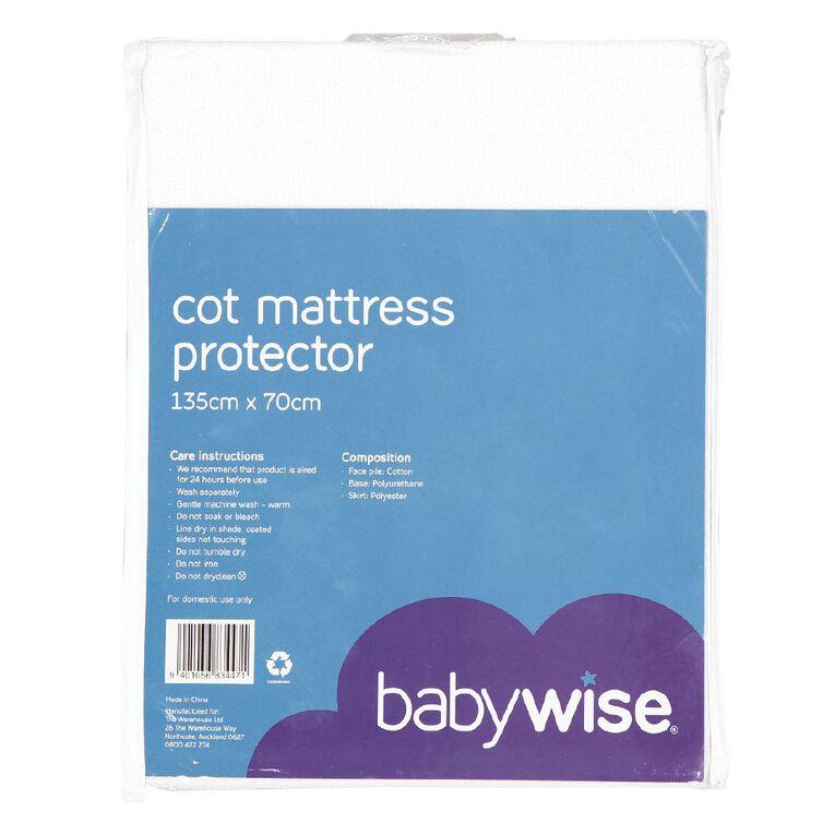 Babywise Cot Mattress Protector, , hi-res