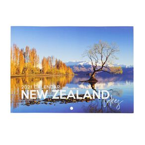 Bright Ideas 2021 Calendar Monthly Lakes A5