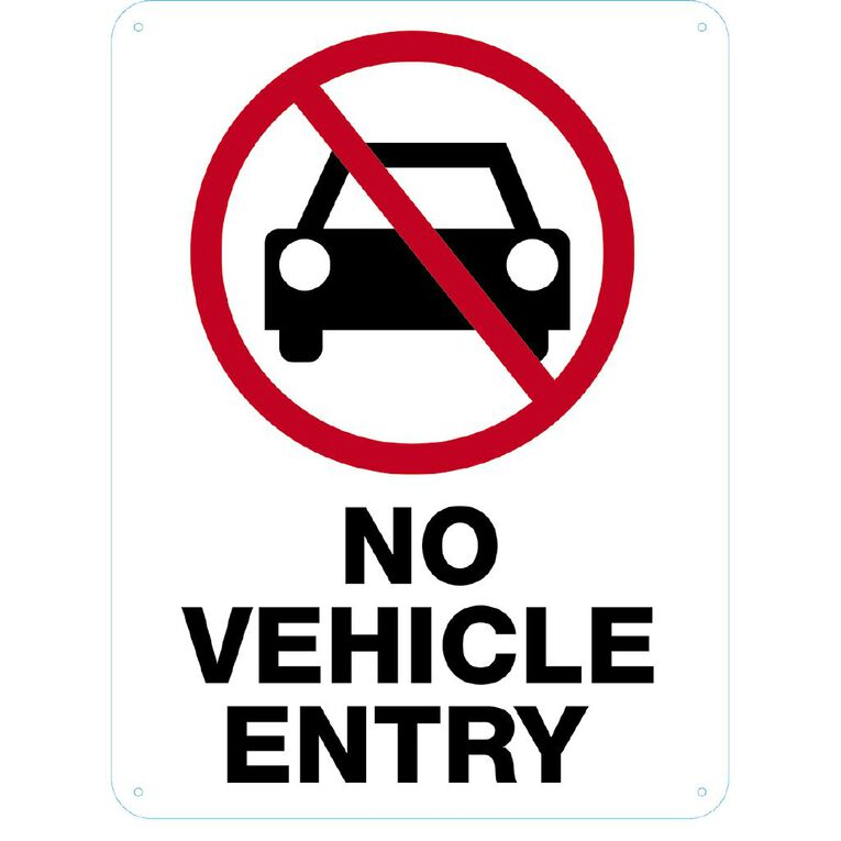 WS No Vehicle Entry Sign Large 600mm x 450mm, , hi-res