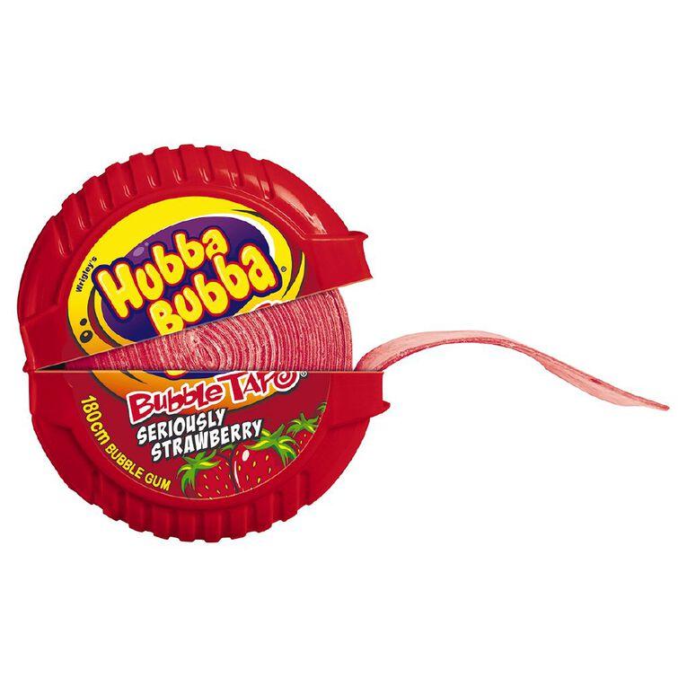 Hubba Bubba Seriously Strawberry Bubble Gum Tape 180cm, , hi-res