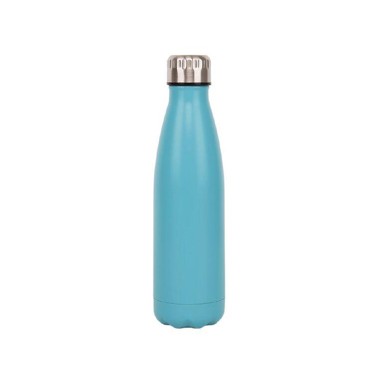 Living & Co Stainless Steel Drink Bottle Blue 500ml, , hi-res