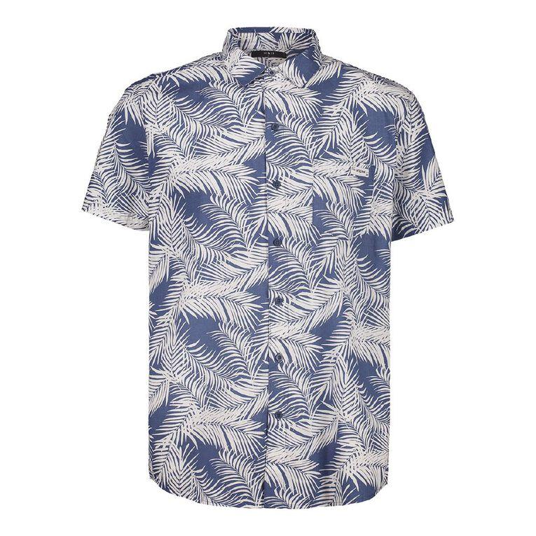 H&H Men's Short Sleeve All Over Print Slub Shirt, White, hi-res