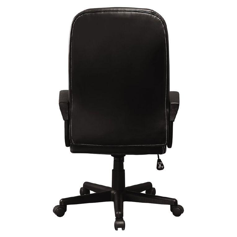 Workspace Valencia Highback Chair Black, , hi-res
