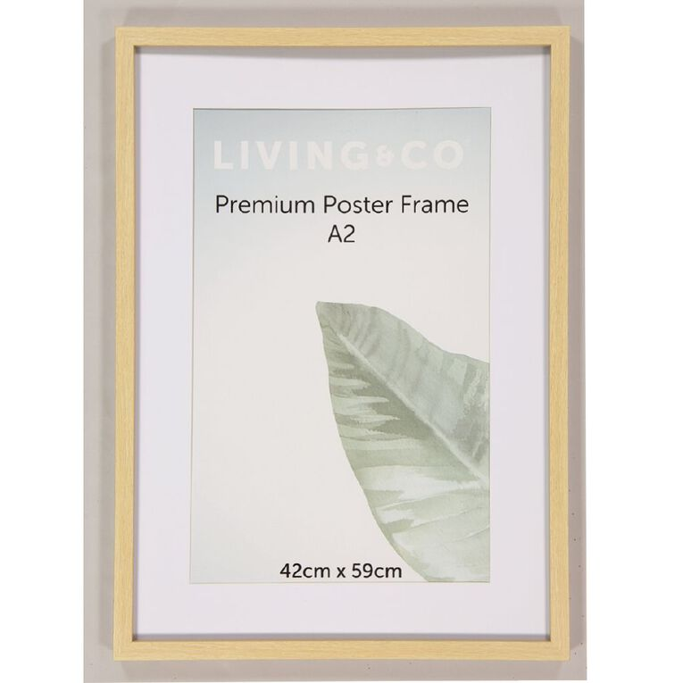 Living & Co Premium Poster Frame Natural A2, Natural, hi-res image number null