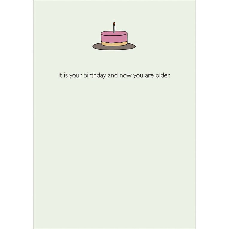 John Sands Birthday General Card Humour Cake with 1 Candle, , hi-res