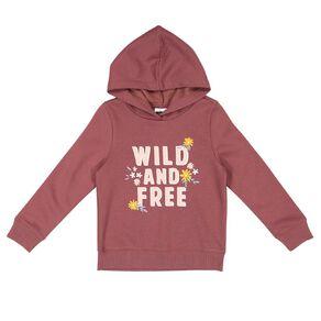 Young Original Pullover Hood Print Sweatshirt