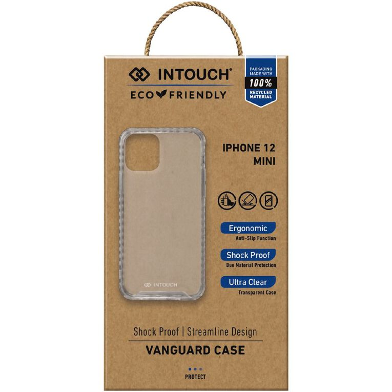 INTOUCH iPhone 12 Mini Vanguard Drop Protection Case Clear, , hi-res