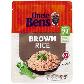 Uncle Ben's Microwave Brown Rice Pouch 250g