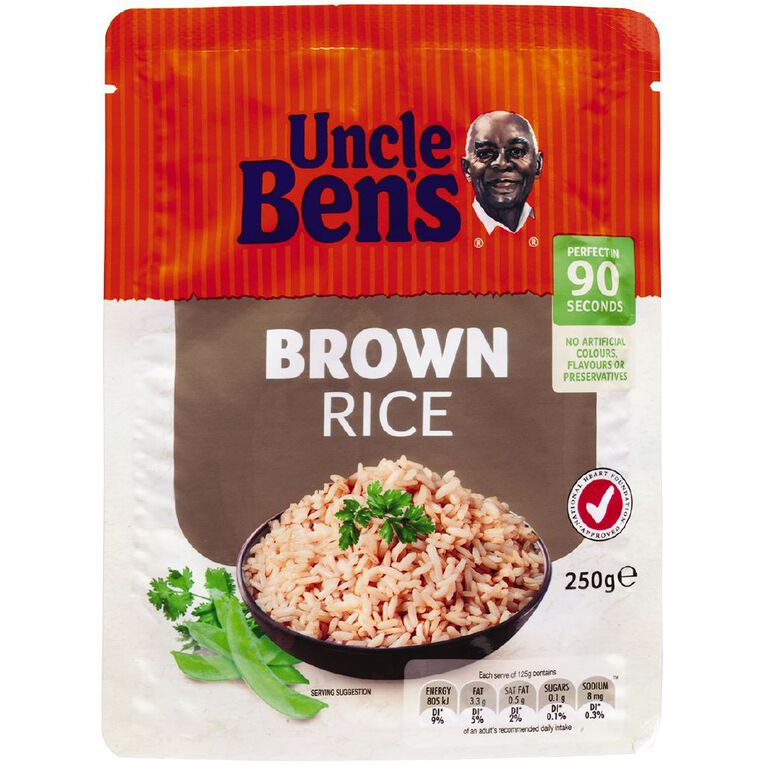 Uncle Ben's Microwave Brown Rice Pouch 250g, , hi-res