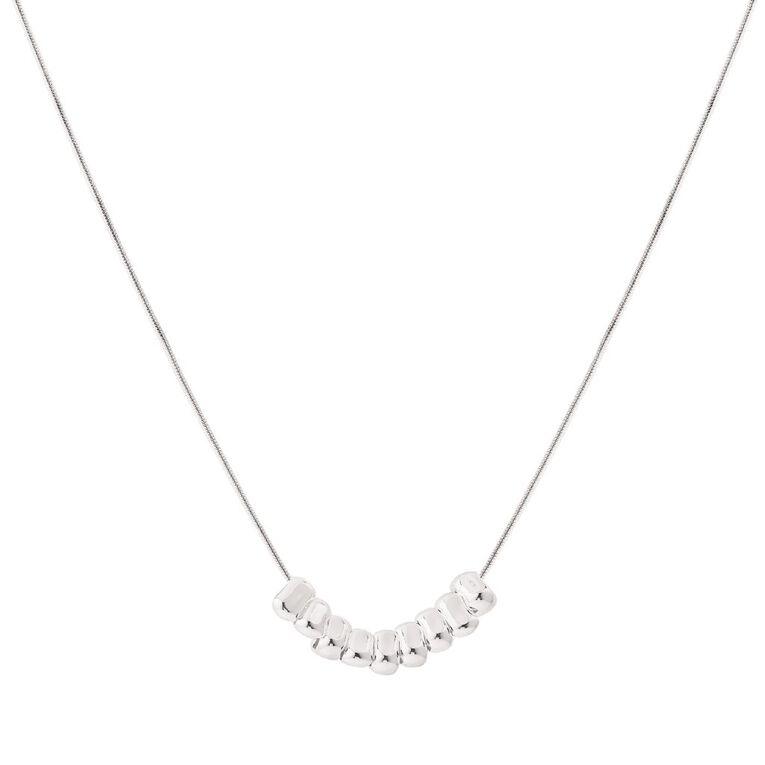 Sterling Silver Charm Necklace 45cm, , hi-res