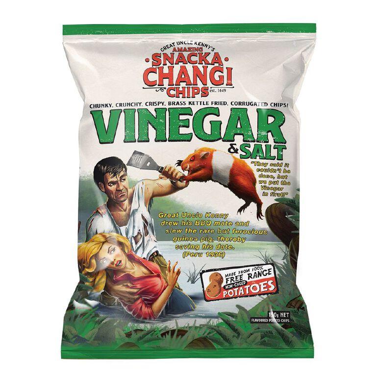 SnackaChangi Kettle Chips Vinegar & Salt - Vinegar then the salt 150g, , hi-res