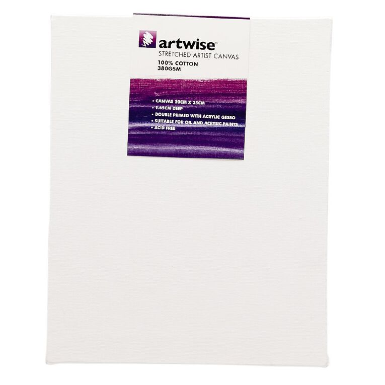 Uniti Blank Canvas 280gsm (8in x 10in) 20cm x 25cm, , hi-res image number null