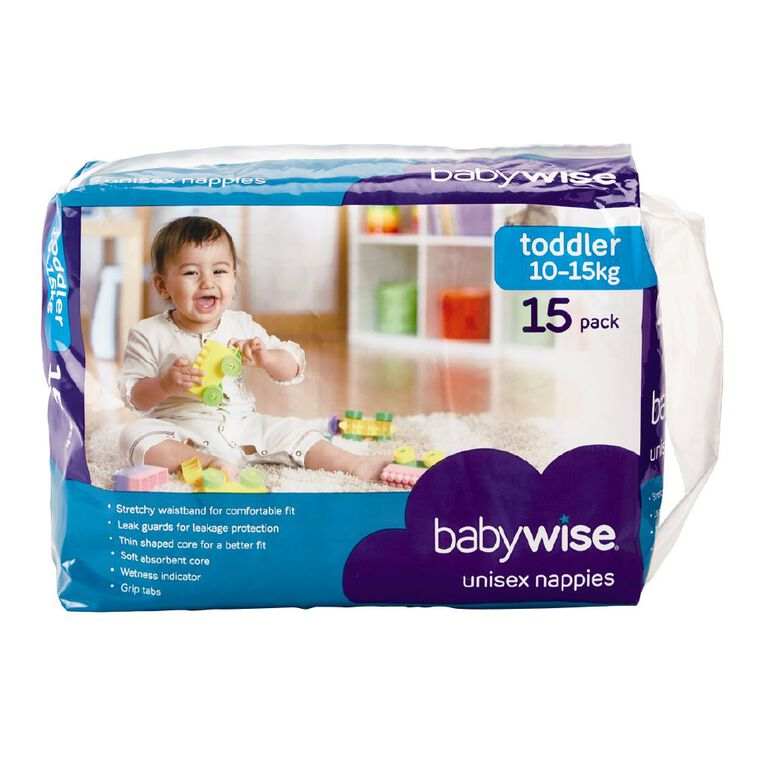 Babywise Nappies Toddler Convenience 15 Pack, , hi-res