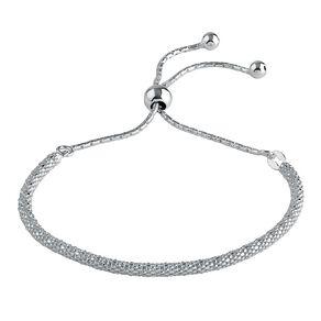Sterling Silver Friendship Pop Corn Chain Bracelet