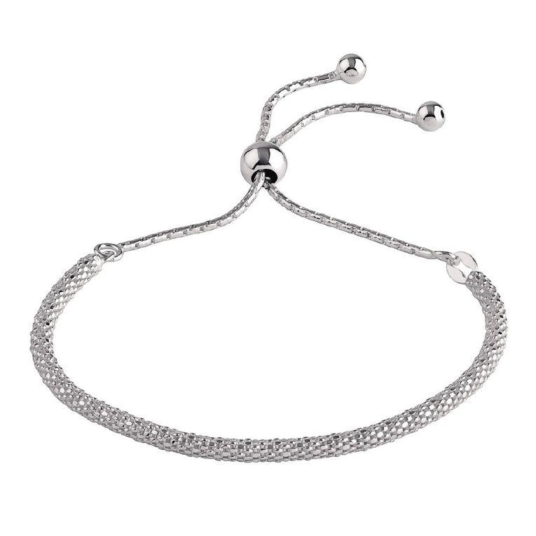Sterling Silver Friendship Pop Corn Chain Bracelet, , hi-res