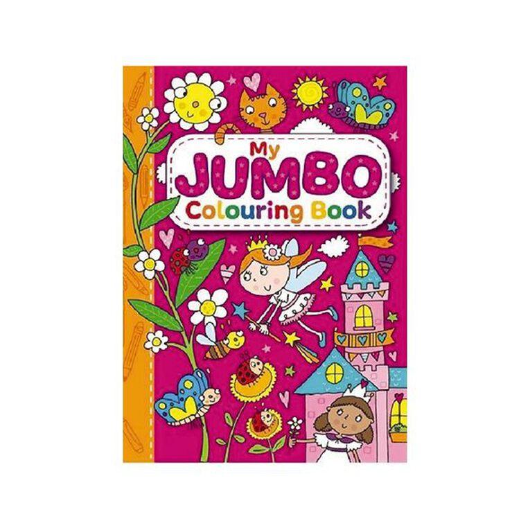 My Jumbo Colouring Book Pink, , hi-res