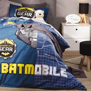 Batman Duvet Cover Set Batmobile Blue