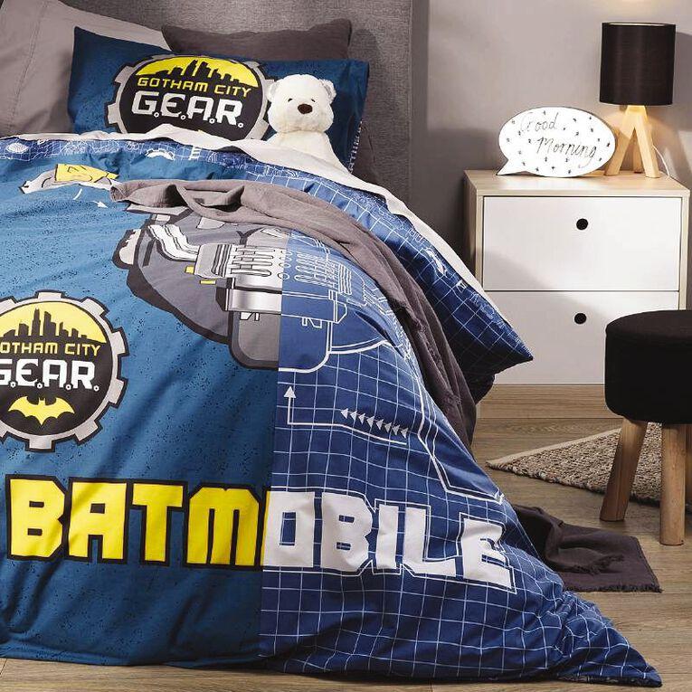 Batman Duvet Cover Set Batmobile Blue Single, Blue, hi-res