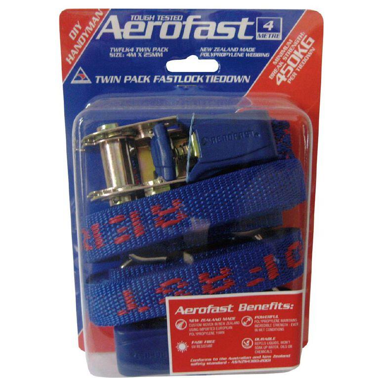 Aerofast Fastlock Tie Down 4M x 25mm 2 Pack, , hi-res