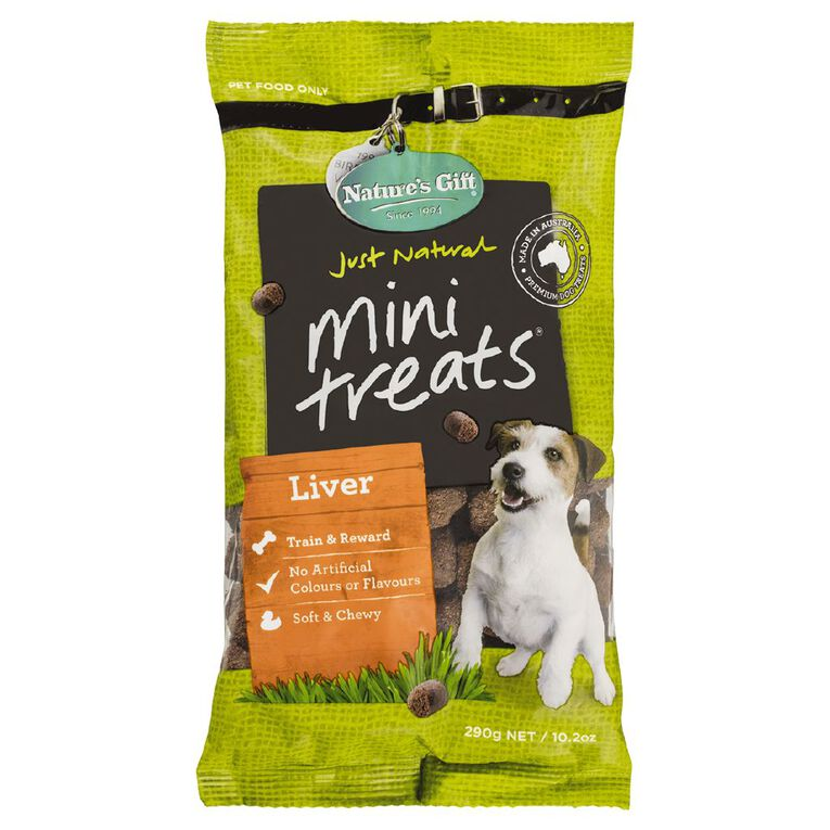Nature's Gift Mini Dog Treats Liver 290g, , hi-res