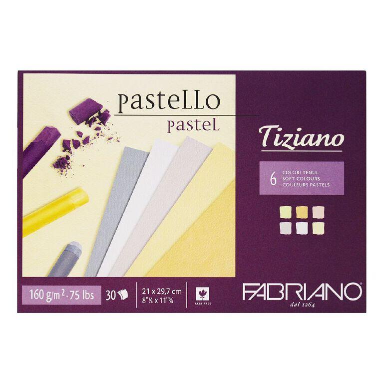 Fabriano Tiziano Pastel Art Pad Soft Colours 160GSM A4, , hi-res
