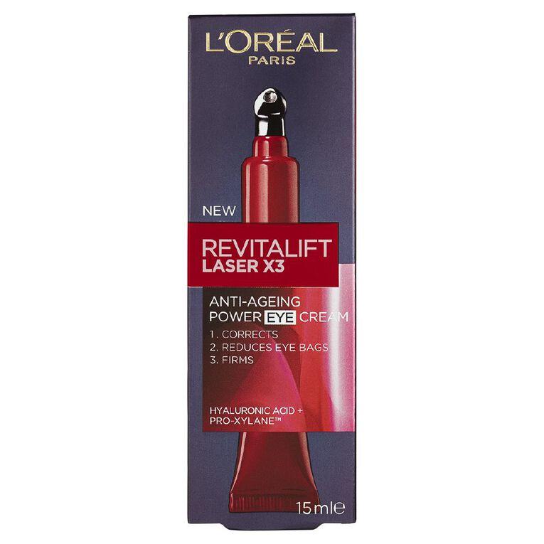 L'Oreal Paris Revitalift Laser x3 Eye Cream 15ml, , hi-res