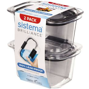 Sistema Brilliance Small Rectangle 2 Pack 380ml