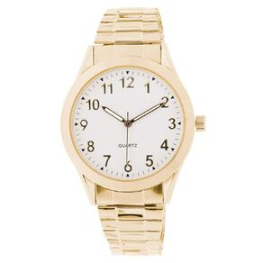 Eternity Men Classic Analogue Steel Watch Gold White