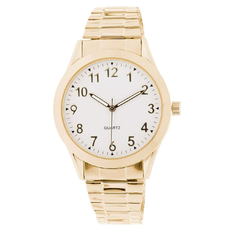 Eternity Men Classic Analogue Steel Watch Gold White, , hi-res