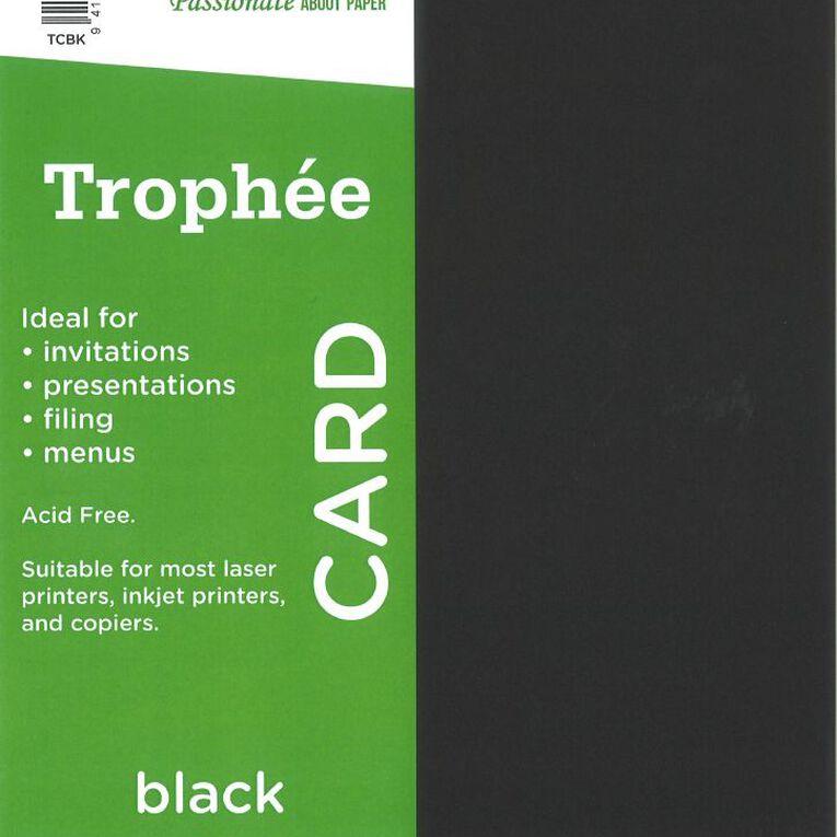 Trophee Card 160gsm 15 Pack Black A4, , hi-res
