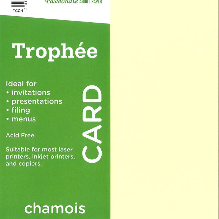 Trophee Card 160gsm 15 Pack Chamois A4, , hi-res