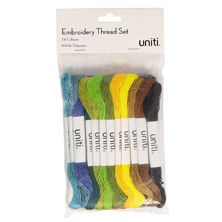 Uniti Embroidery Thread Set 24 Piece, , hi-res