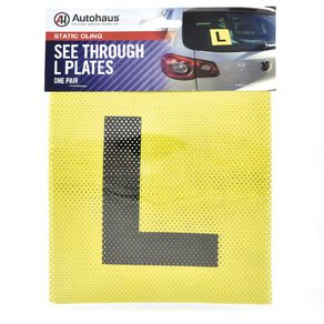 Autohaus Static Cling Learner Plates 2 Pack