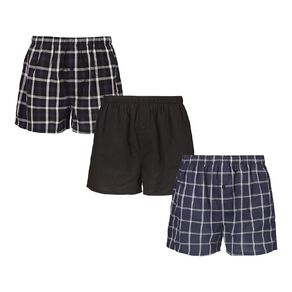 H&H Men's Woven Boxers 3 Pack