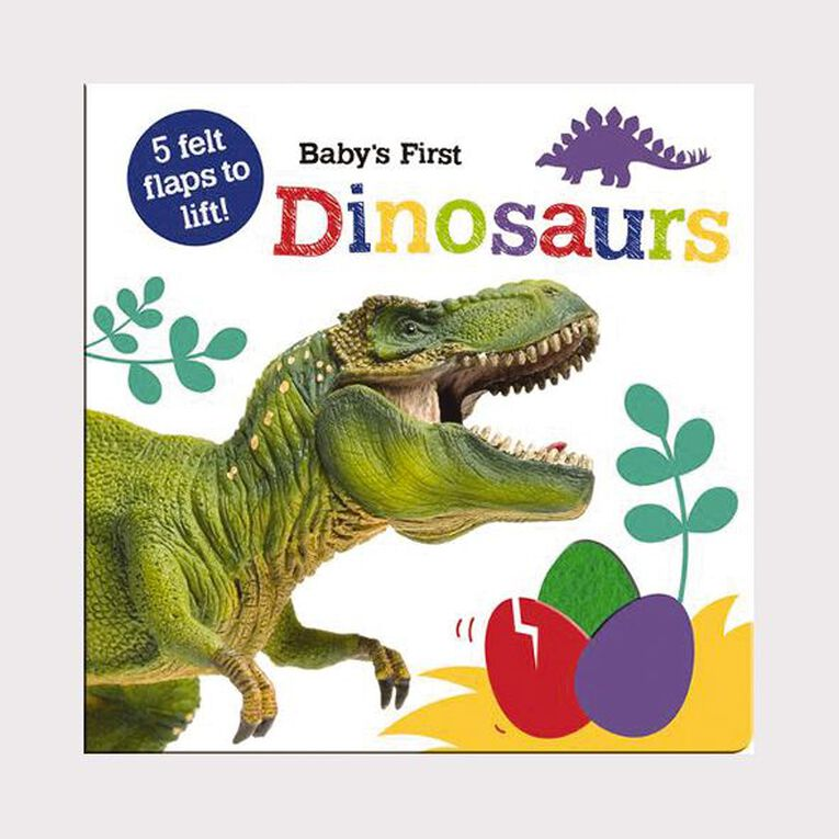 Baby's First Felt Flap Book: Dinosaurs, , hi-res