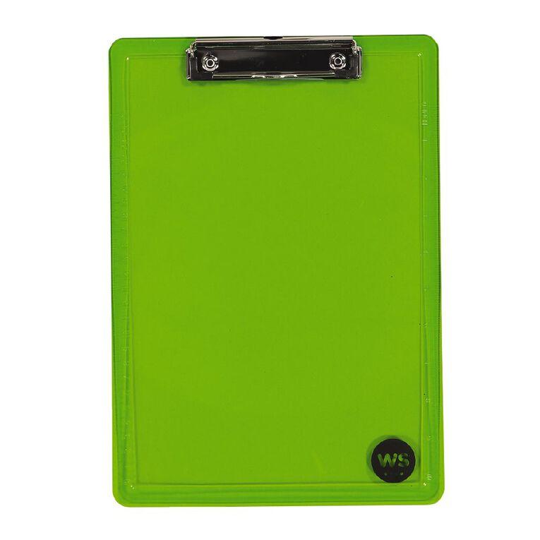 WS Clipboard Green A4, , hi-res