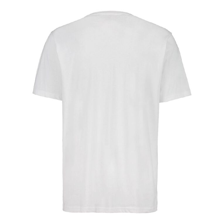 H&H Men's Crew Neck Short Sleeve Plain Tee, White, hi-res image number null