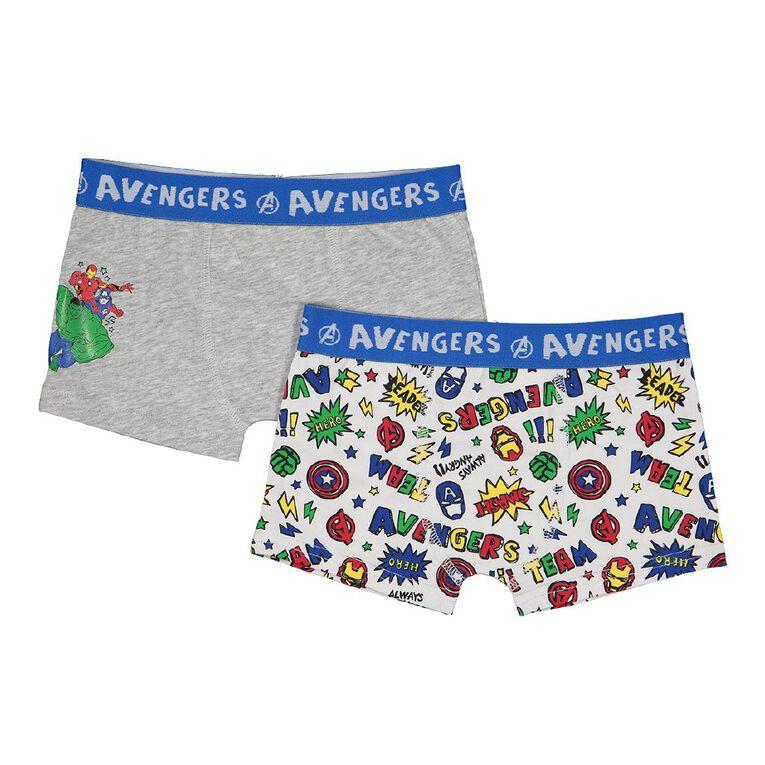 Avengers Boys' Trunks 2 Pack, Grey Marle, hi-res