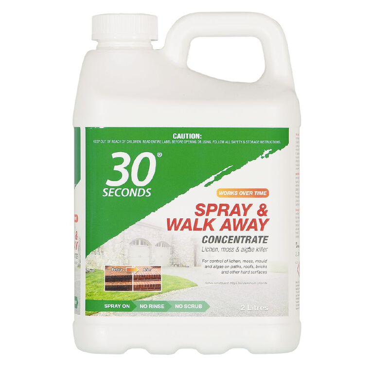 30 Seconds Spray & Walk Away Lichen Moss & Algae Killer Concentrate 2L, , hi-res