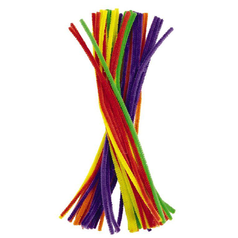 Kookie Chenille Sticks Multi-Coloured 50 Pack, , hi-res