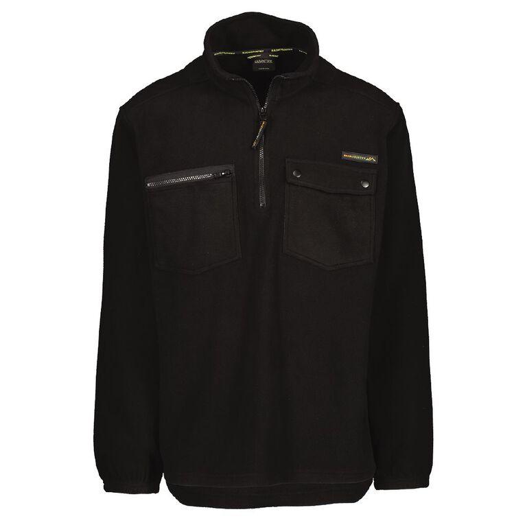 Back Country Men's 1/4 Zip Fleece Sweatshirt, Black, hi-res