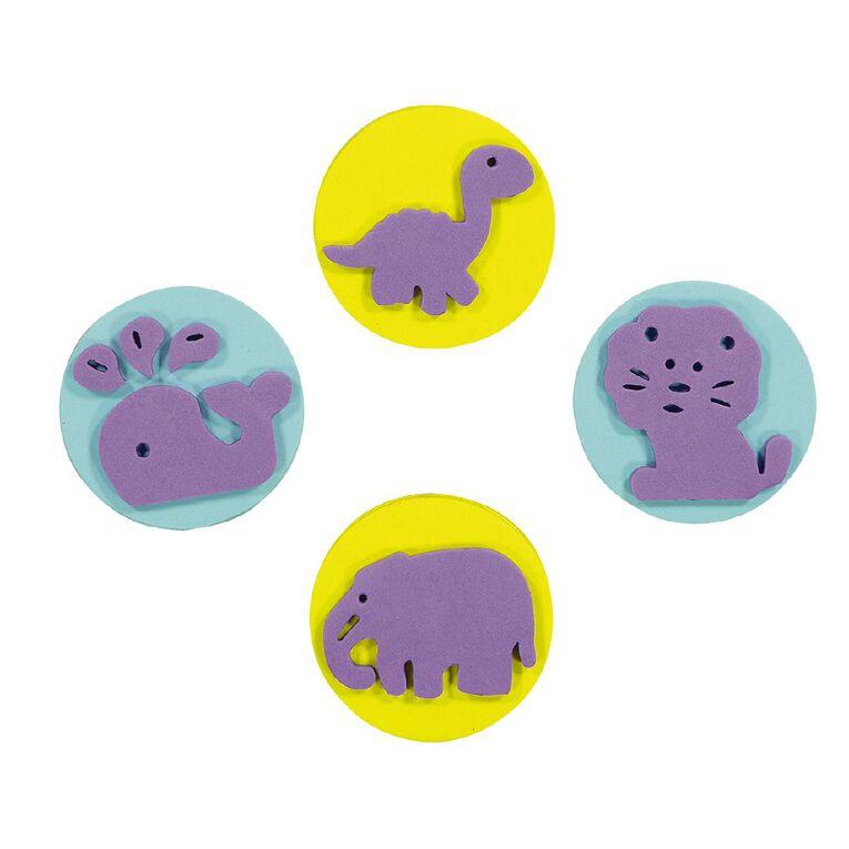 Kookie Jumbo Foam Stamps 4pk Animals, , hi-res