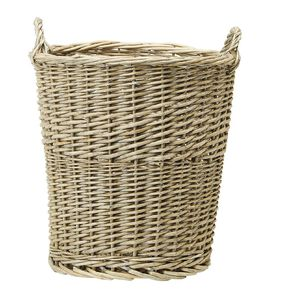 Living & Co Round Wicker Basket Natural Small