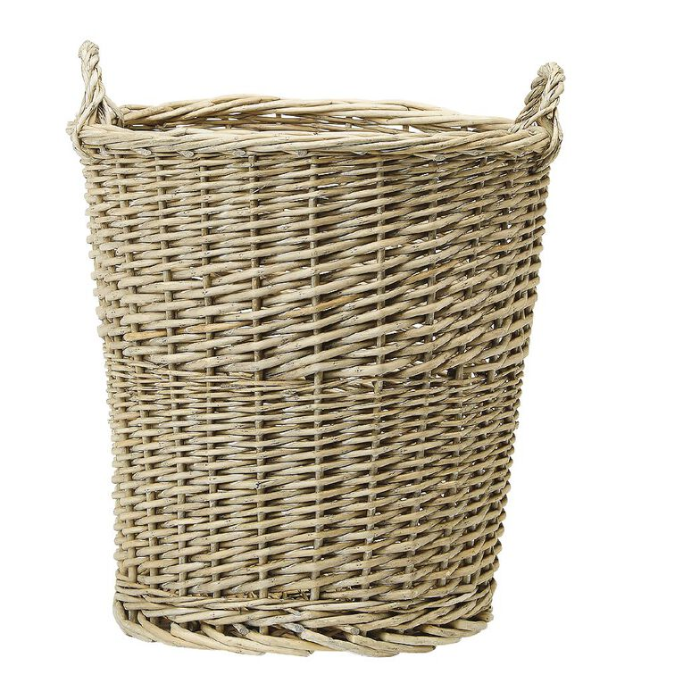Living & Co Round Wicker Basket Natural Small, , hi-res