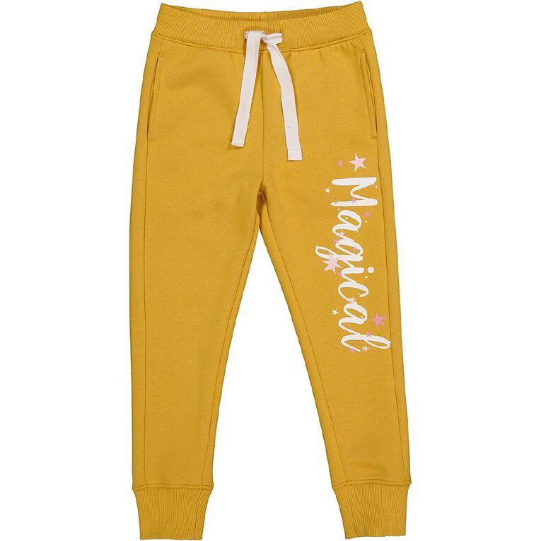Young Original Printed Jogger Trackpants, Yellow Dark, hi-res