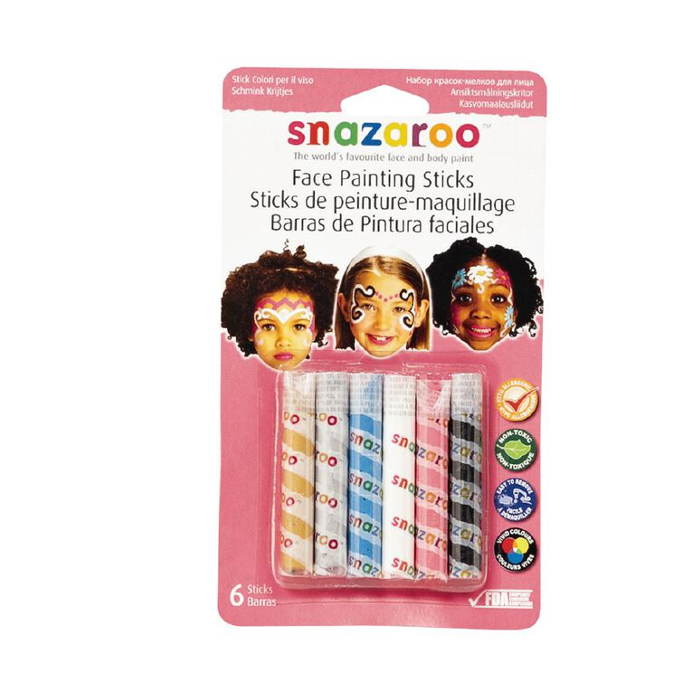 Snazaroo Face Painting Sticks 6 Pack Assorted, , hi-res