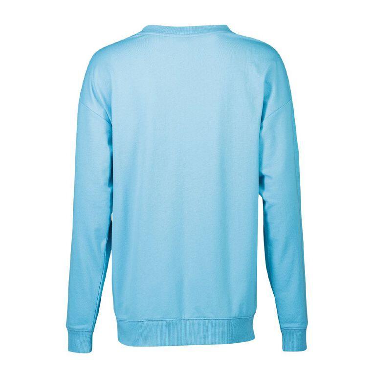 Sesame Cookie Women's Lounge Sweatshirt, Blue, hi-res