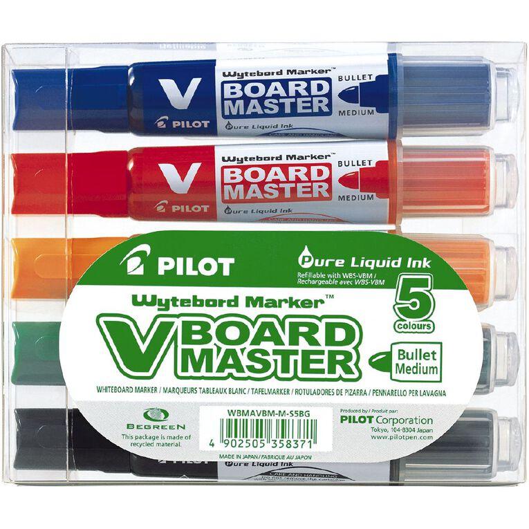 Pilot Begreen V Board Whiteboard Marker Assorted Bullet 5 Pack, , hi-res