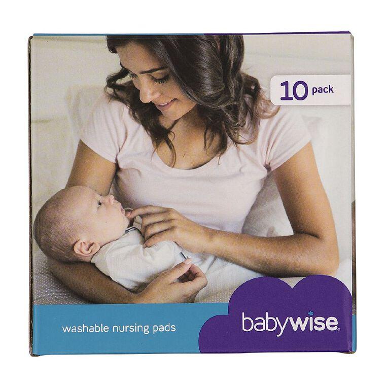 Babywise Re-usable/washable Nursing Pads 10pk, , hi-res