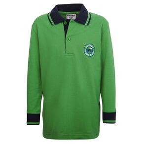 Schooltex Mt Roskill Primary Long Sleeve Polo with Embroidery